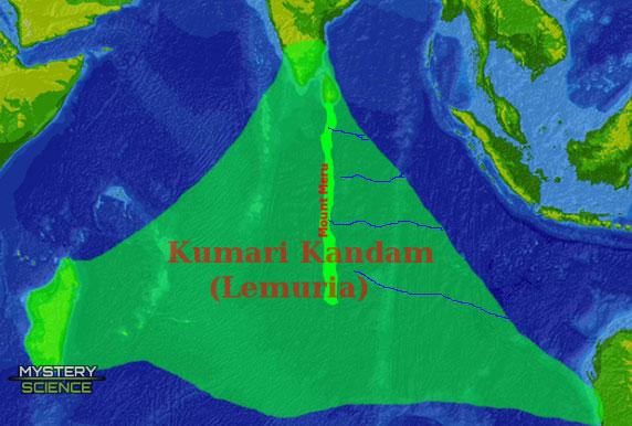 Tierra de Lemuria o Kumari Kandam