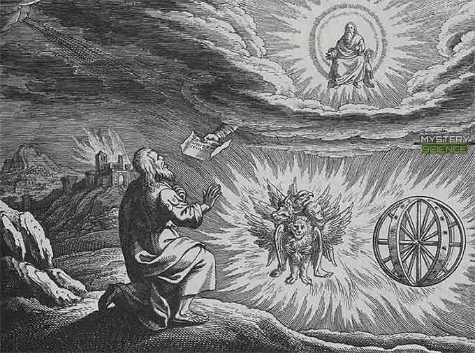 Figura similar a una nave voladora descrita en la visión de Ezequiel