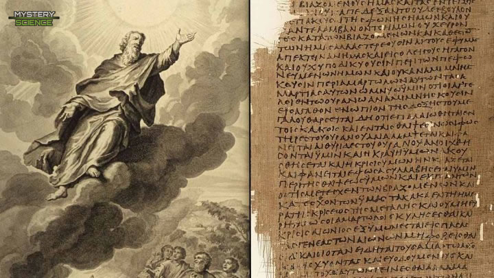 Enoc ascendiendo a los cielos
