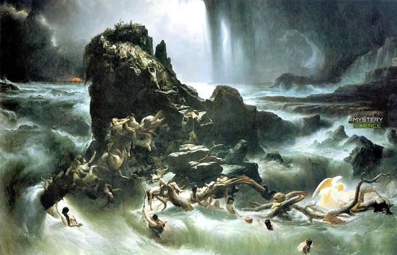 Diluvio universal eliminó gigantes