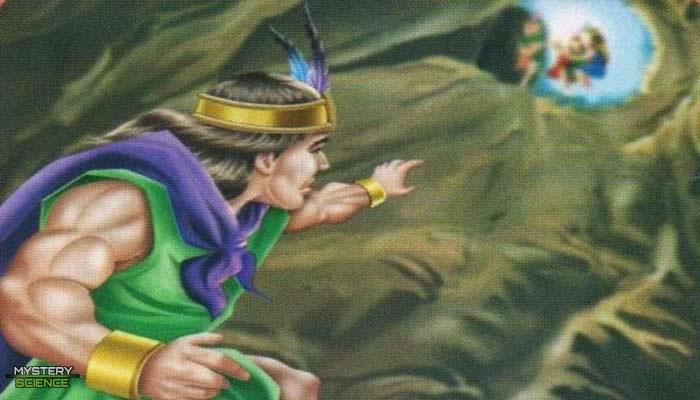 Representación del encierro de Ayar Cachi