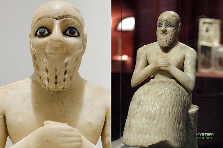 Estatua de Ebih II sumerios anunnakis