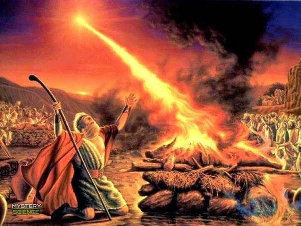 Elías y su altar encendido por Yahvé