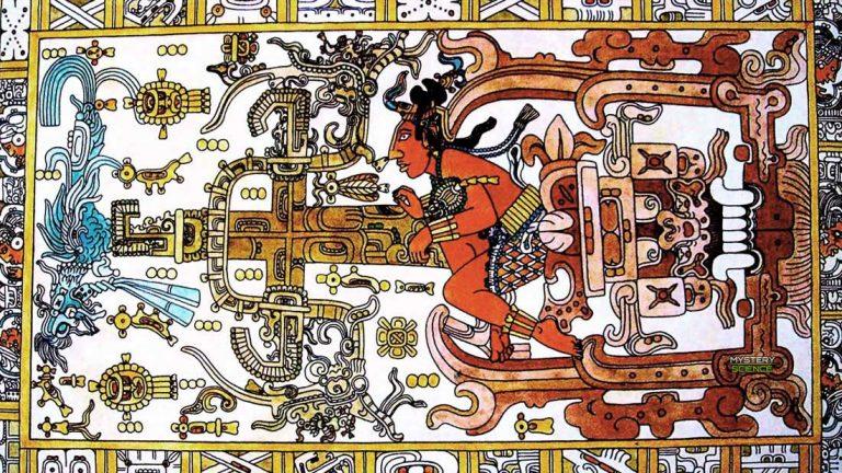 Las misteriosas inscripciones en la tapa de la tumba de Pakal, el rey maya