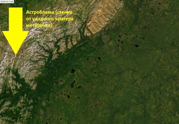 La pirámide está ubicada en el territorio de la Cordillera de los Pueblos-Itinsky
