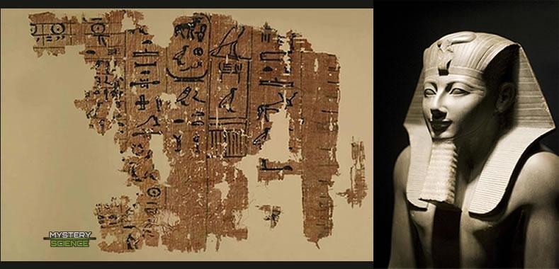 El Papiro de Tulli revela un avistamiento OVNI de Tutmosis III en el antiguo Egipto.