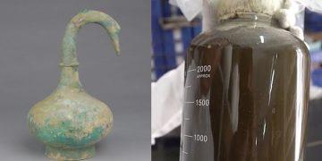 Hallan un recipiente de 2.000 años de antigüedad con un misterioso líquido en China