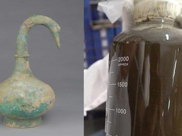 Identifican el líquido hallado en un jarrón chino de más de 2 mil años