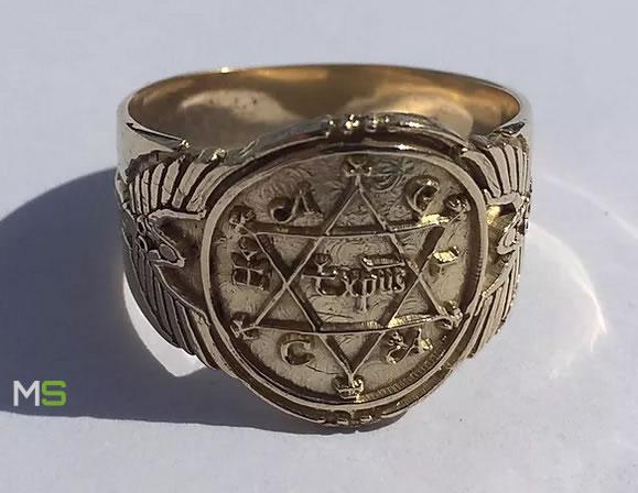 Réplica actual del anillo del Rey Salomón