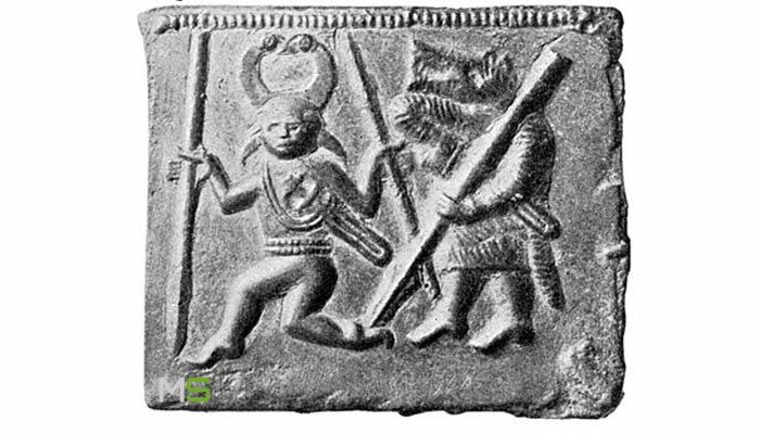 Placas Torslund donde se muestra a un guerrero berserker
