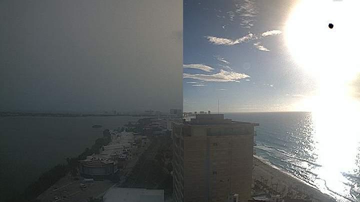 nube de polvo sahara en mexico