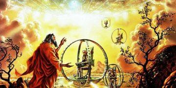 El carro de fuego de Ezequiel: una «nave» celestial de Yahvé con ruedas metálicas