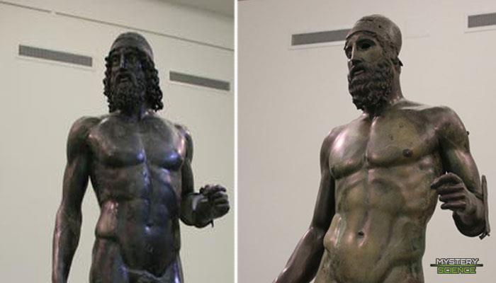 Estatuas gigantes halladas bajo las aguas del Mediterráneo