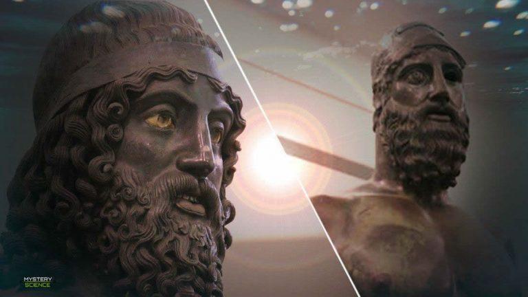 Estatuas gigantes fueron halladas en las profundidades del Mediterráneo