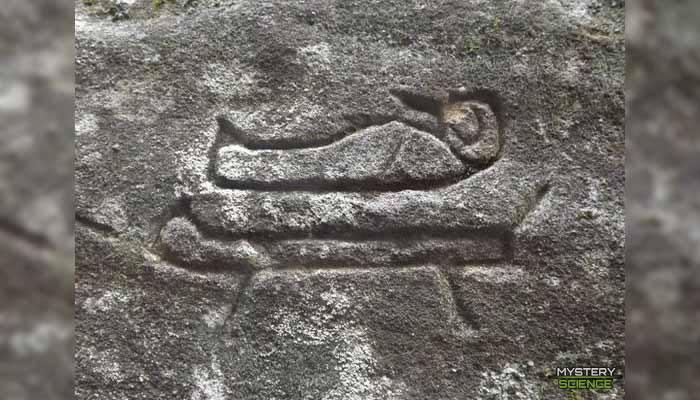 Uno de los jeroglíficos encontrados en Australia que se asemeja a los usados en Egipto
