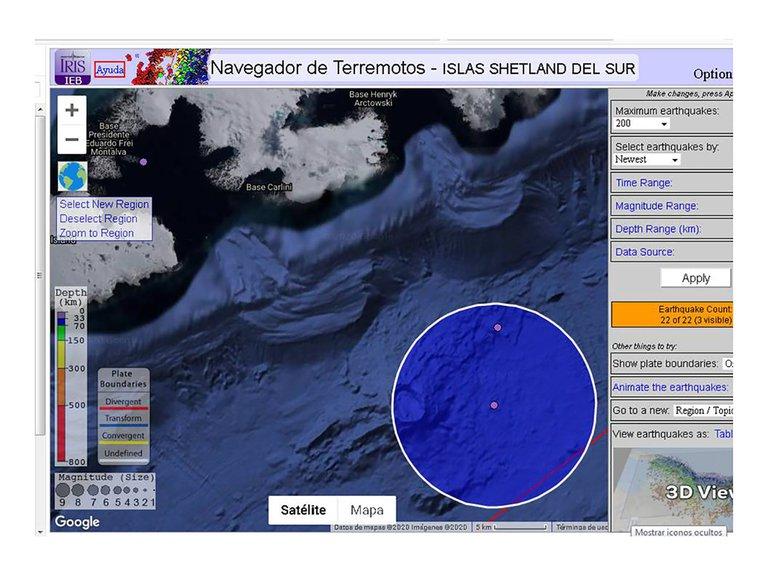 terremotos en la Antártida