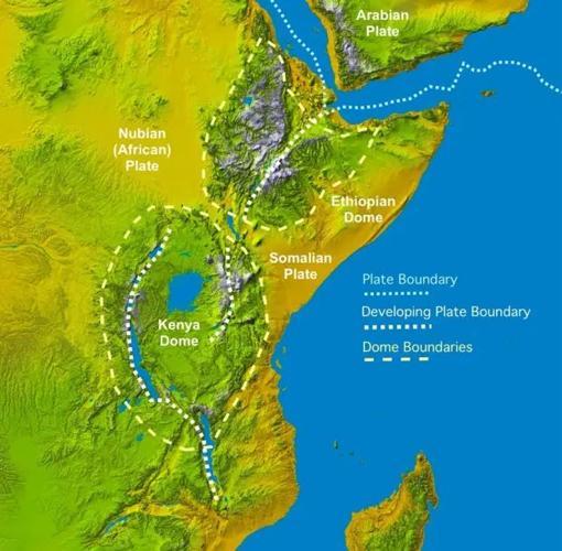 Configuración geológica de las placas en África