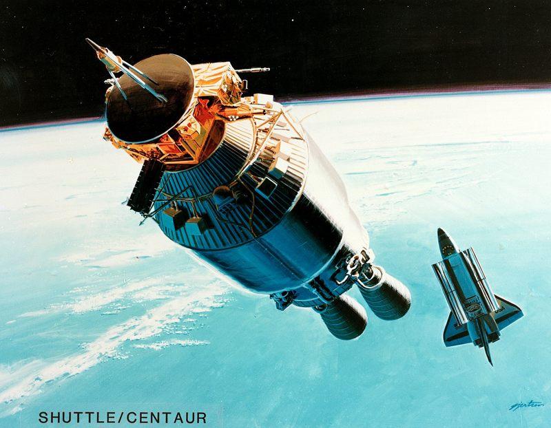 Representación artística de una versión Centaur para un transbordador espacia