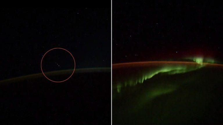 Captan misteriosos objetos desde la Estación Espacial Internacional (VIDEO)