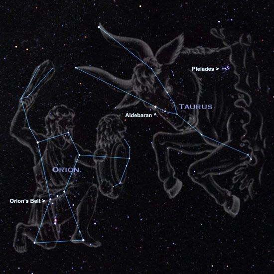 Constelaciones de Orión y Tauro