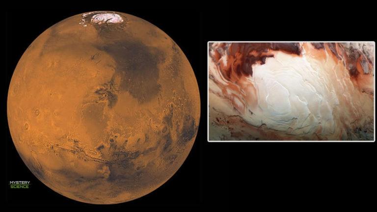 Descubren lagos ocultos bajo el polo sur de Marte