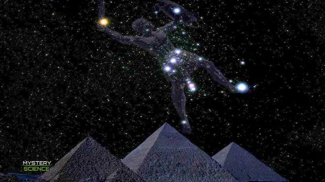 compleja alineación con varias constelaciones y estrellas
