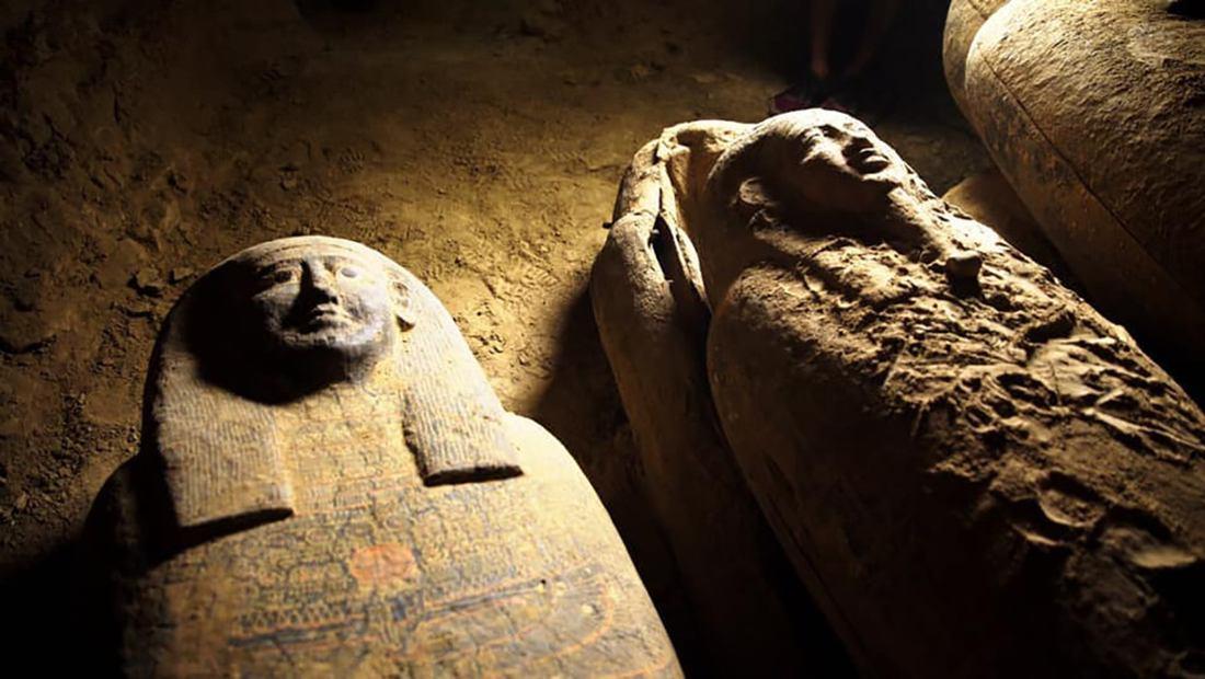 Sarcofagos intactos en egipto