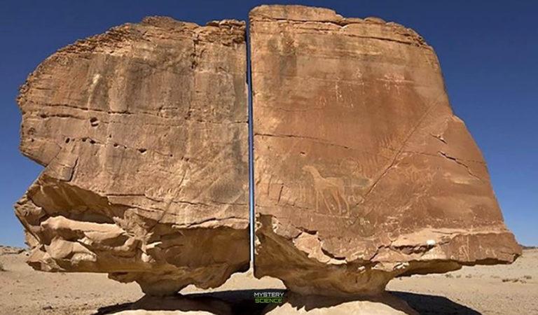 Al Naslaa: la enigmática roca perfectamente cortada en dos