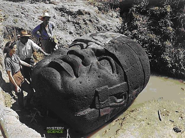 Colosales cabezas Olmeca