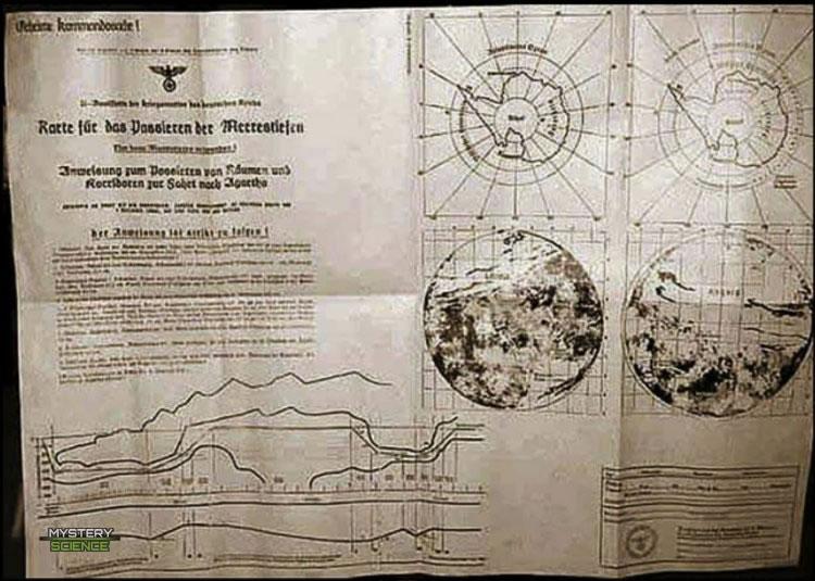 Mapa nazi Tierra Hueca