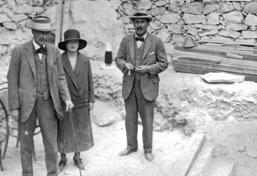 Acceso a la tumba de Tutankamón, en noviembre de 1922.