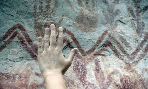 Arte rupestre en selva amazonas