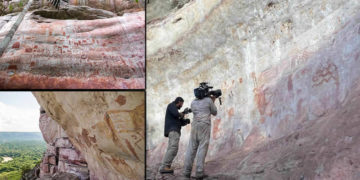 Descubren miles de pinturas prehistóricas en la selva Amazónica