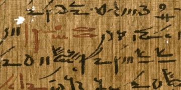 Fragmento de un antiguo papiro egipcio