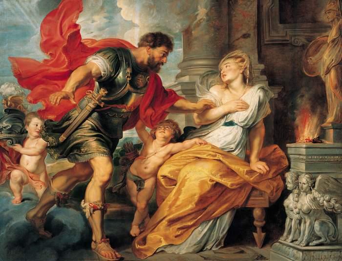 Marte y Rea Silvia, un cuadro de Peter Paul Rubens, realizado en 1617 que representa la leyenda de Rómulo y Remo