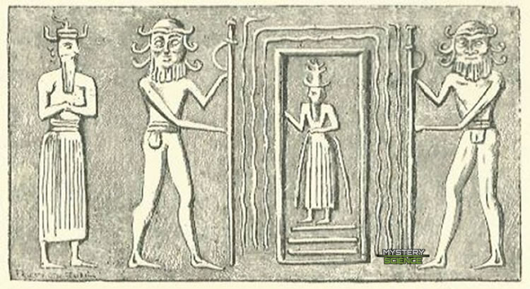 Tablilla sumeria que podría estar representando un portal estelar.