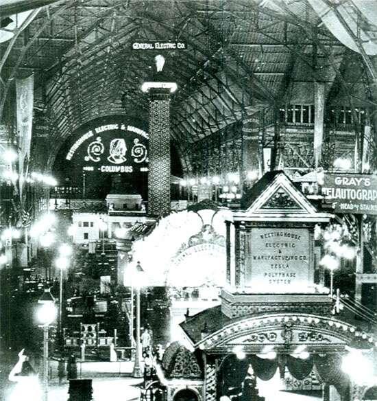 Exposición personal de Nikola Tesla en la Feria Mundial de Chicago, 1893.