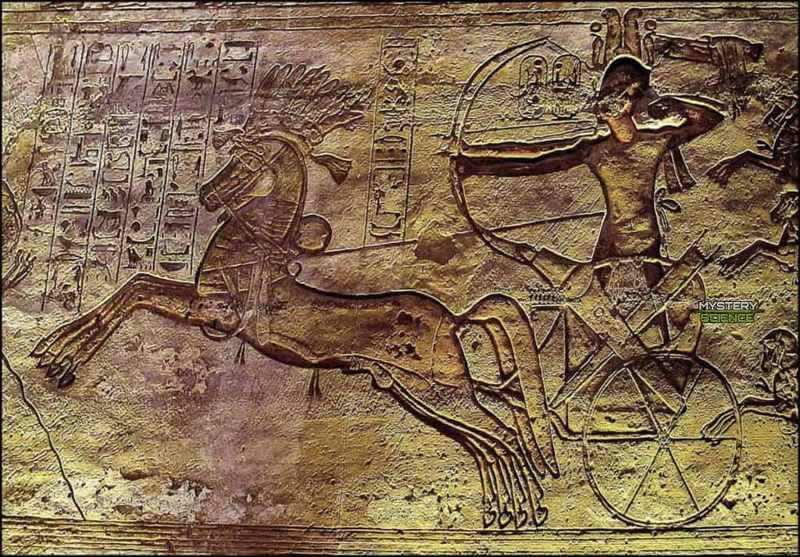 Relieve de Ramsés II en la batalla de Kadesh