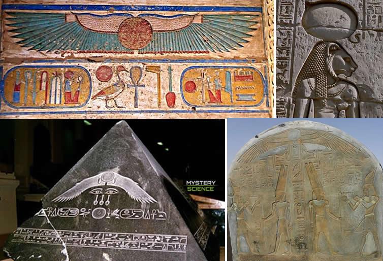 El disco solar es un reconocido objeto simbólico de la mitología egipcia