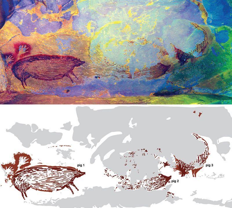 Pintura rupestre de un animal más antigua del mundo