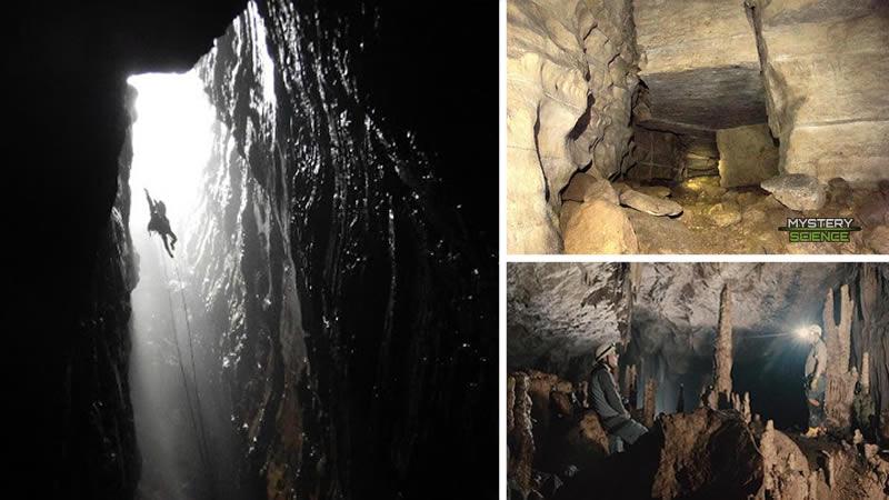Cueva de los Tayos. Ingreso, corredor simétrico e interior