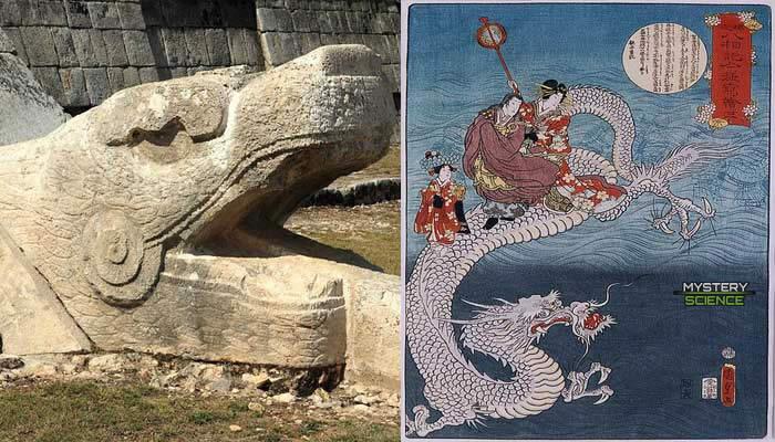 Kukulkan de los mayas y el Emperador Dragón de Japón