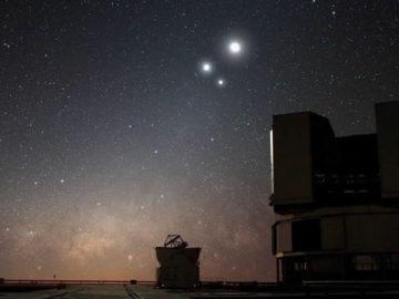 Júpiter, Saturno y Mercurio se unirán en una inusual triple conjunción