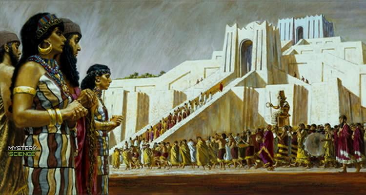 El dios de la luna Nanna-Sin visita su Zigurat