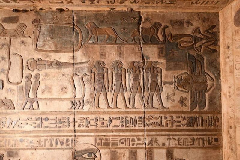 Constelaciones egipcias en el techo del templo de Esna