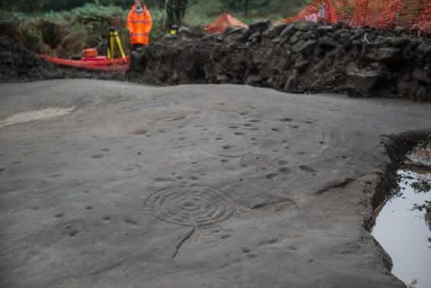 La piedra de Cochno fue enterrada de nuevo a fin de protegerla contra eventuales daños