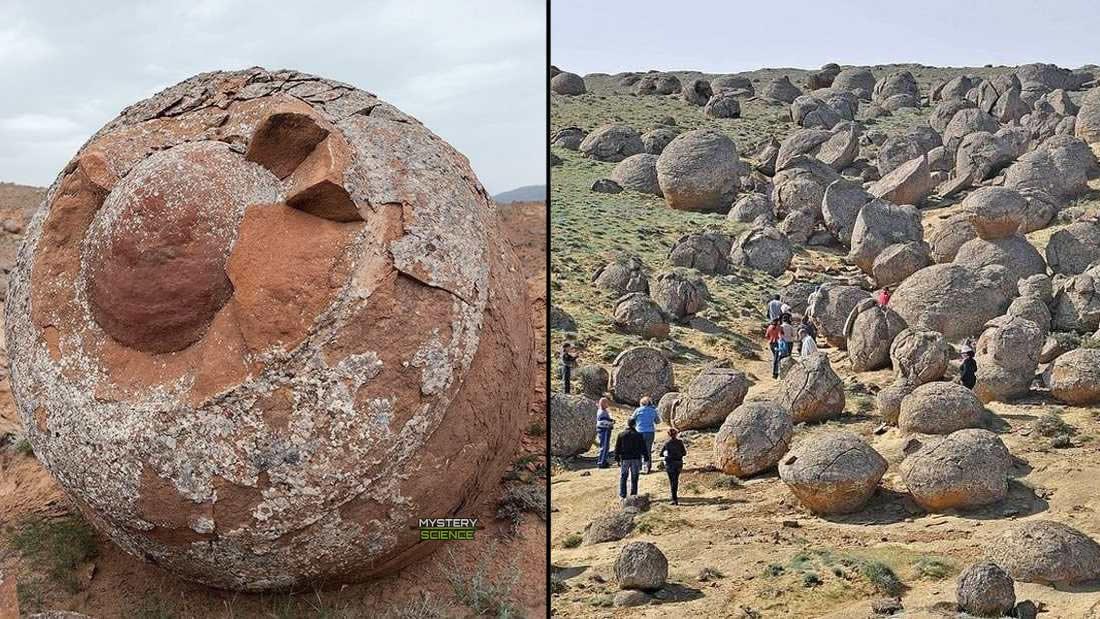 Esferas de piedra gigantes Kazajstán