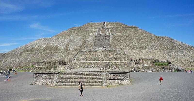 La Pirámide del Sol en Teotihuacan