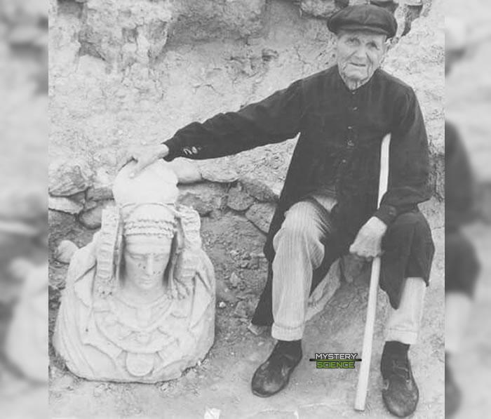 Descubrimiento de La dama de Elche en 1897 por el agricultor valenciano Manuel Campello