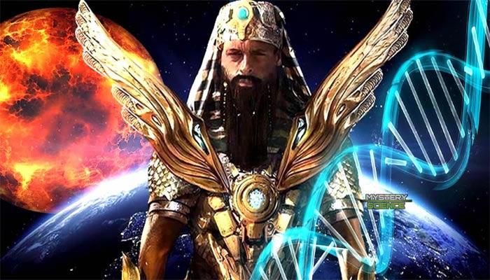De acuerdo a la teoría de los antiguos astronautas, Enki llegó desde Nibiru y fundó Eridu antes de crear a la humanidad